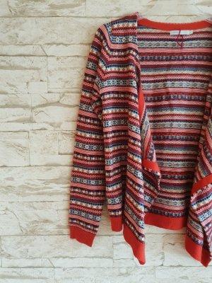 Only Cardigan tricotés rouge-bleu foncé