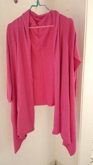 Cardigan Hülle Strickjacke pink Cashmere von Malvin