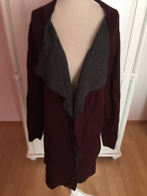 Cardigan in bordeaux grau NEU