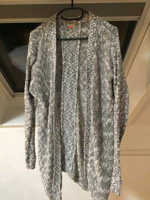 Cardigan in grau/weis