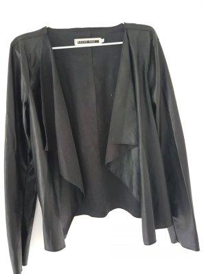 Cardigan in Lederoptik XL