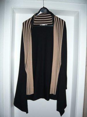 Cardigan in Longform, Marke: ashley brooke, Gr. 34, Farbe: schwarz/camel, neuwertig