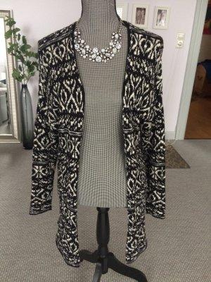 Cardigan in schwarz weiß mit auffälligen Muster