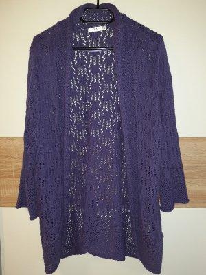 John Baner Crochet Cardigan grey violet