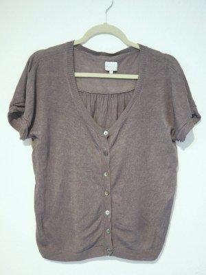 Opus Short Sleeve Knitted Jacket grey