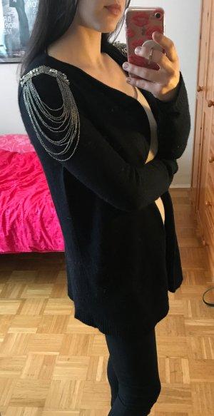 Cardigan Jäckchen Vero Moda S 36 Schulterklappen schwarz Epauletten strickjacke