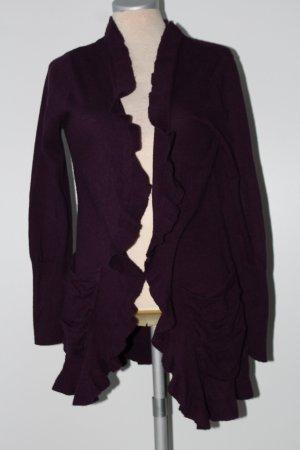 Cardigan Jäckchen violett Dunnes Gr. 40 M L Strickjacke beere lila