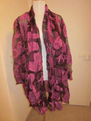 Cardigan Kimono Schwarz Pink Gr L/XL/XXL