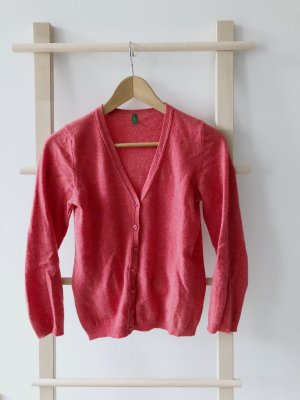 Benetton Knitted Cardigan raspberry-red-pink
