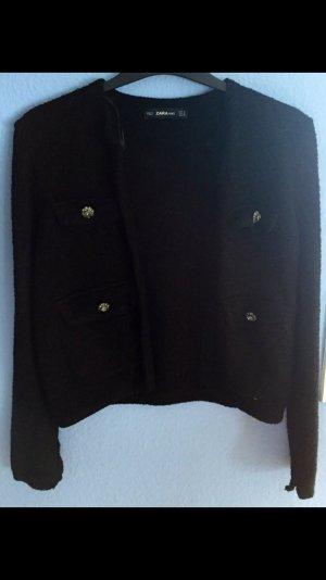 Cardigan/Kurzjacke/Blazer von Zara in schwarz