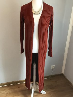 Mango Knitted Cardigan brick red