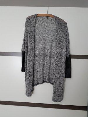 Cardigan langarm grau/schwarz