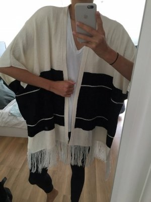Cardigan m s Fashion chic cool schwarz weiß Oberteil Pullover Cape Mango