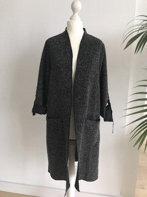 Cardigan Mantel schwarz weiß S 36 wie NEU