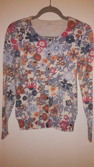 Cardigan mit Blumenaufdruck