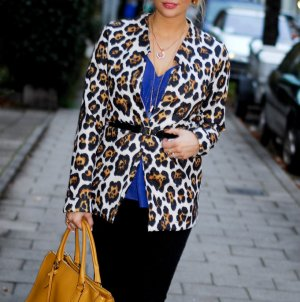 Cardigan mit Leopardenmuster