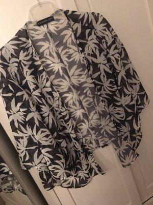 Cardigan mit Palmenmuster