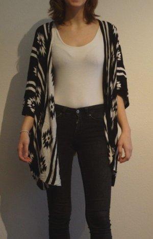Cardigan mit schwarzweiß Muster