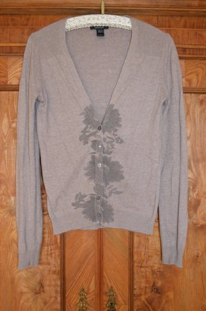Mango Knitted Cardigan gold-colored-green grey