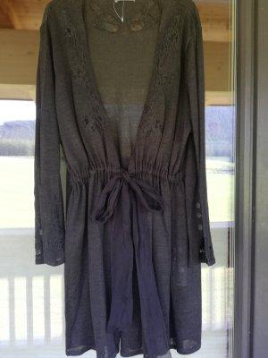 Ulla Popken Mode bleu foncé lin