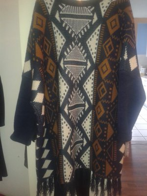 Cardigan ponch Cape fransen Hippie azteken Oversized