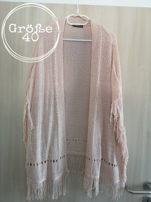 Knitted Poncho pink