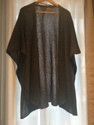 Vero Moda Cardigan en crochet gris foncé-gris anthracite tissu mixte
