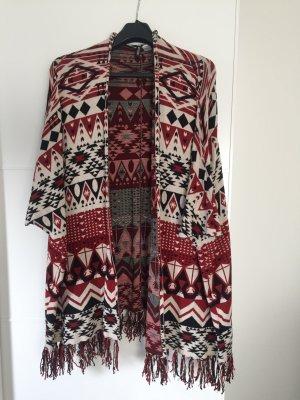 Cardigan/Poncho mit tollem Azteken Muster