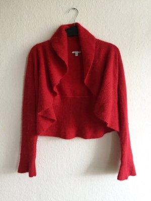 // Cardigan // Red // Size S // Metallicgarn //