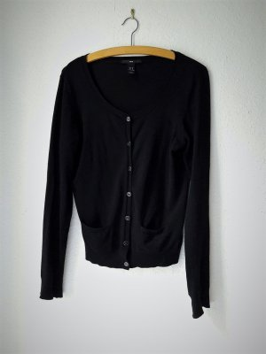 H&M Cardigan black mixture fibre