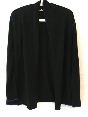 Cardigan schwarz mit blauen Nähten, Esprit