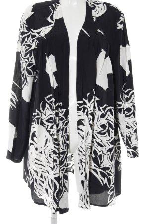 Cardigan schwarz-weiß Casual-Look