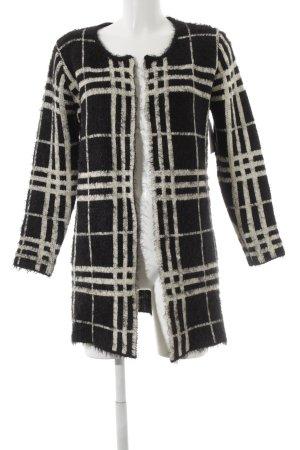 Cardigan schwarz-weiß Streifenmuster Casual-Look