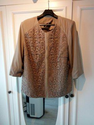 cardigan, Spitzen Jacke in 52,Farbe taupe