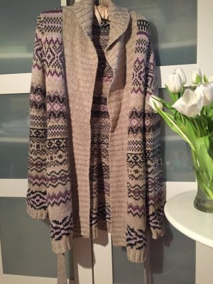 Cardigan Strick Long-Cardigan camel anthrazit