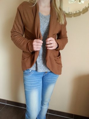 Cardigan / Strickjacke 32/34 von Buffalo in Cognac/Braun Ton