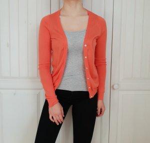 Cardigan Strickjacke Amisu Orange Rosa Koralle Pullover Pulli Hoodie Top Hemd Bluse XS
