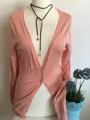 Cardigan Strickjacke Basic rosa Gr. M NEU