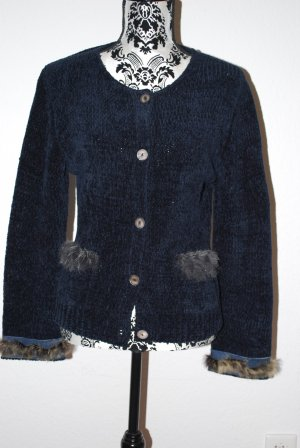 Cardigan * Strickjacke * blau * Fell * M * Oui