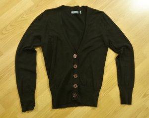 Cardigan Strickjacke dunkelbraun schwarzbraun von Montego, Gr. S