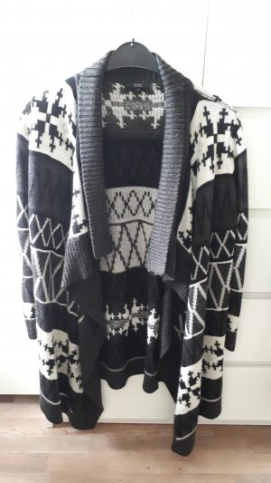 Pure Knitted Cardigan white-anthracite