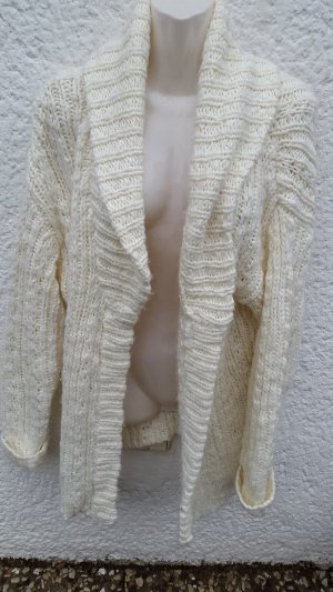 Cardigan, Strickjacke, Gr. L, weiß, Clockhouse