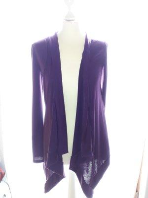 Cardigan violet rayonne