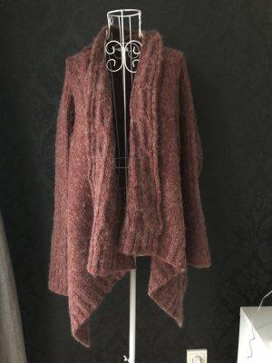 Cardigan, Strickjacke, rostrot, rosa, warm, s,m