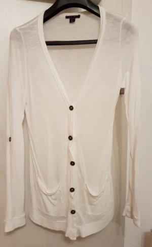 Cardigan-Strickjacke (S) in Weiß von Amisu