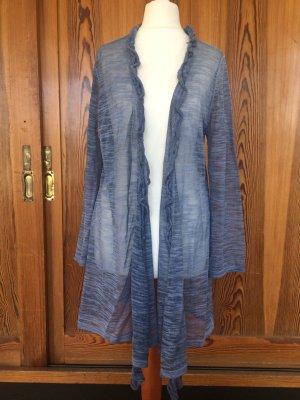 Cardigan, Strickjacke, transparent, marine Look, Sommerstrick