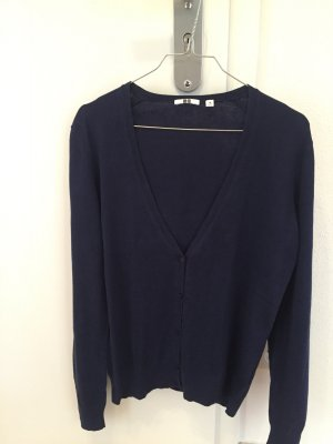 Cardigan Strickjacke Uniqlo M blau mit Cashmere