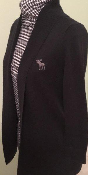 Cardigan Strickjacke von Abercrombie & Fitch Gr. XS schwarz
