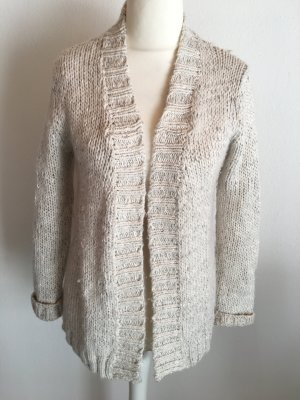 Cardigan Strickjacke warm dick beige grau Gr. M