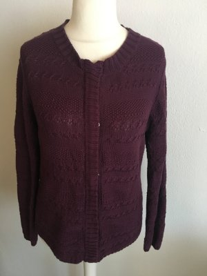 Cardigan Strickjacke warm lila Gr. M